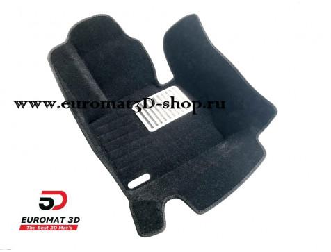 Текстильные 5D коврики с высоким бортом Euromat3D в салон для BMW X3 (F25) (2010-) № EM5D-001210