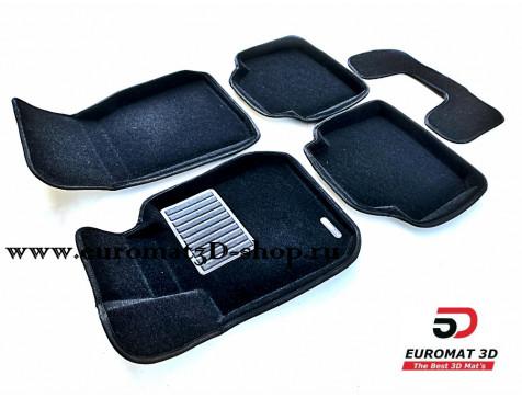 Текстильные 3D коврики Euromat3D Business в салон для BMW 3 (F30) (2010-) № EMC3D-001202