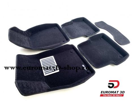 Текстильные 3D коврики Euromat в салон для AUDI A6 (2004-2010) № EM3D-001109